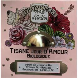 Provence d'Antan Tisane Bio Jour d'Amour 24 sachets boite metal 48gr