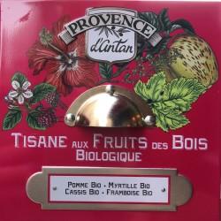 Provence d'Antan Tisane Bio aux Fruits des bois 24 sachets boite metal 60gr